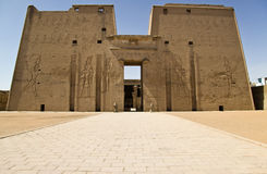 Edfu temple. Details of Egyptian art. An example of the art of the pharaohs Royalty Free Stock Photography