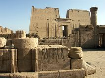 Edfu Temple. Of the Horus, Egypt Royalty Free Stock Images