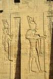 Edfu Temple. In Egypt to the Nile Stock Photos