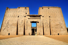EDFU temple. This is historical building in luxor egypt Stock Photo