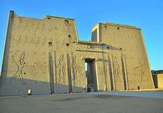 Edfu temple, Egypt Stock Photo
