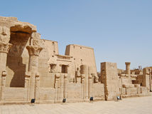 Edfu temple in Egypt Royalty Free Stock Photo