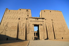 Edfu Temple in Egypt Stock Images