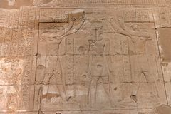 Edfu Temple in Egypt. The Edfu temple ruins in Egypt by the River Nile Royalty Free Stock Images