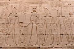 Edfu Temple in Egypt. The Edfu temple ruins in Egypt by the River Nile Stock Photography