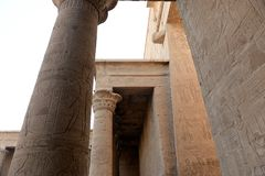 Edfu Temple in Egypt. The Edfu temple ruins in Egypt by the River Nile Royalty Free Stock Image