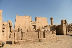 Edfu Temple in Egypt Stock Photography