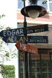 Edgar Allan Poe arkivfoto