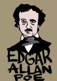 Edgar Allan Poe royalty ilustracja