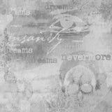 Edgar Allan Poe - Abstrakcjonistyczna szarość - Nevermore got - Makabryczny - Ciemny humor - Halloween - royalty ilustracja