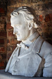 Edgar Allan Poe Bust (Side View) Stock Photo