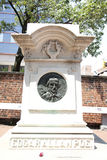 Edgar Allan Poe Grave Stock Images