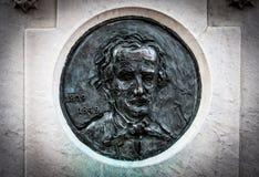 Edgar Allan Poe Likness sur la pierre tombale Image libre de droits