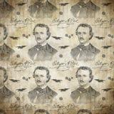 Edgar Allan Poe - o corvo - nunca mais - macabramente - Goth - Dia das Bruxas - humor escuro ilustração stock