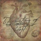 Edgar Allan Poe - skarżypyty serce - Makabryczny Halloween - got - Ciemny humor ilustracja wektor
