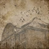 Edgar Allan Poe - spadek dom Usher - Makabryczny Halloween - got - Ciemny humor royalty ilustracja