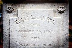 Edgar Allan Poe Tombstone imagens de stock