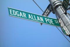 Edgar Allan Poe ulica Obrazy Stock