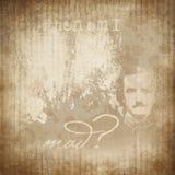 Edgar Allan Poe - Zakłopotany kolażu tło - Makabryczny Halloween - got - Ciemny humor ilustracji