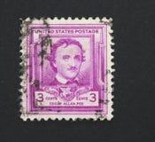 Edgar Allen Poe Immagine Stock Libera da Diritti