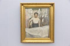 Edgar Degas obraz w Neue Pinakothek w Monachium Fotografia Royalty Free