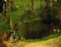 Edgar Degas Painting imagens de stock royalty free