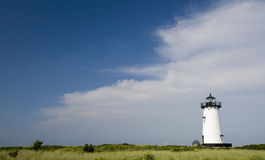 Edgar Harbor Light House Marthas Vineyard Stock Photo
