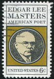 Edgar Lee Masters. UNITED STATES - CIRCA 1970: stamp printed by United states, shows Edgar Lee Masters, circa 1970 Royalty Free Stock Photos