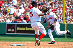 Edgar Renteria Boston Red Sox Royalty Free Stock Photo