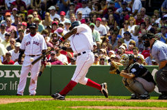 Edgar Renteria Boston Rode Sox Stock Afbeelding