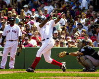 Edgar Renteria les Red Sox de Boston Photos libres de droits