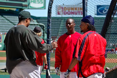 Edgar Renteria and Manny Ramirez Royalty Free Stock Photos