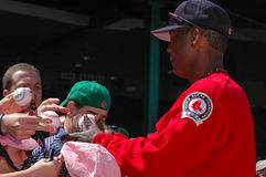 Edgar Renteria signs autographs for fans. Stock Photo