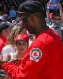 Edgar Renteria signs autographs for fans. Stock Photography