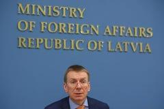 Edgars Rinkevics, Υπουργός ξένου - υποθέσεις της Λετονίας στοκ φωτογραφία