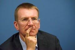 Edgars Rinkevics, minister Cudzoziemski - sprawy Latvia obrazy stock