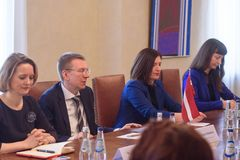 Edgars Rinkevics, Minister van Buitenlandse zaken van Latvi royalty-vrije stock fotografie