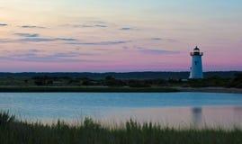 马萨葡萄园岛Edgartown灯塔 库存图片