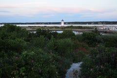 Edgartown灯塔从远方2 免版税库存图片