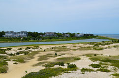 Edgartown Landscape. Coastal resort area of Edgartown, Martha's Vineyard Royalty Free Stock Images