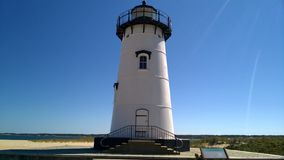 Edgartown Lighthouse, Martha's Vineyard. The cast iron two storey Edgartown Lighthouse was built in 1939. You can find it on Martha's Vineyard, Massachusetts Royalty Free Stock Images
