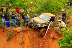 On the edge. Off-road race - Evros Trophy 2011 Greece Royalty Free Stock Images