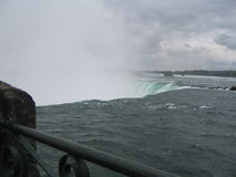 At the Edge. Of Niagara Falls, Canada royalty free stock images