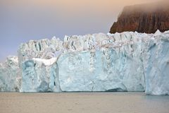 Edge of glacier in the Arctic Stock Photos