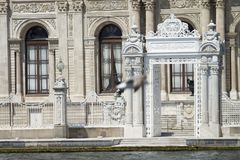Dolmabahce palace, besiktas, istanbul, turkey. stock photography