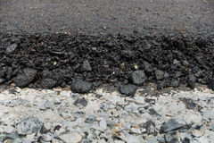 Edge of asphalt road. Stock Image