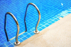 Edge blue pool Stock Images
