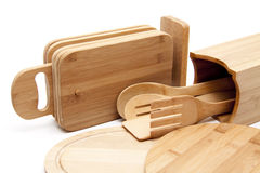 Edge board and cook spoon Stock Photo