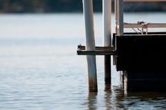 Edge of Boat dock on lake Royalty Free Stock Photo