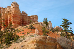 Edge of Bryce. Hoodoos along scenic highway at the edge of Bryace Canyon National Park Royalty Free Stock Photo